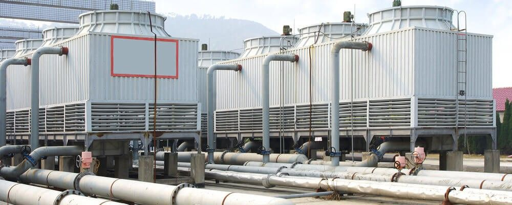 cooling tower vs. chiller – cooling towers on roof
